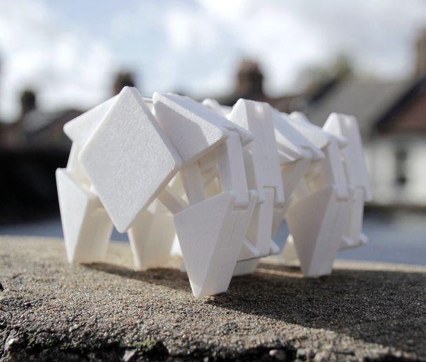 in 3D con ROBOT biết đi, cơ cấu di chuyển Theo Jansen