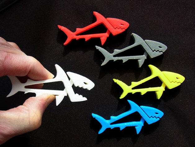 in 3D và cá nhân hóa đồ vật, in 3D kep con cá mập
