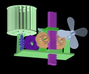in 3D mô hình trữ năng lượng gió