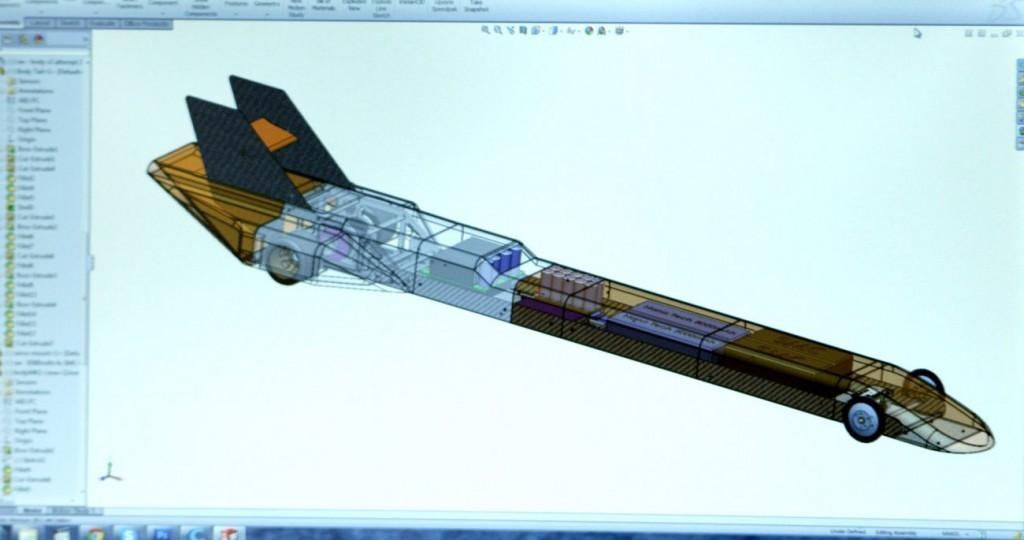 """bằng vài """"kỹ xảo"""" tách part trên phần mềm vẽ 3d, một kỹ sư đã chế ra body cho chiếc xe đua mô hình điều khiển từ xa (RC) có tốc độ nhanh nhất thế giới!"""