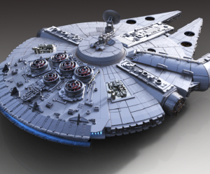 in 3D phi thuyền Millennium Falcon siêu bự
