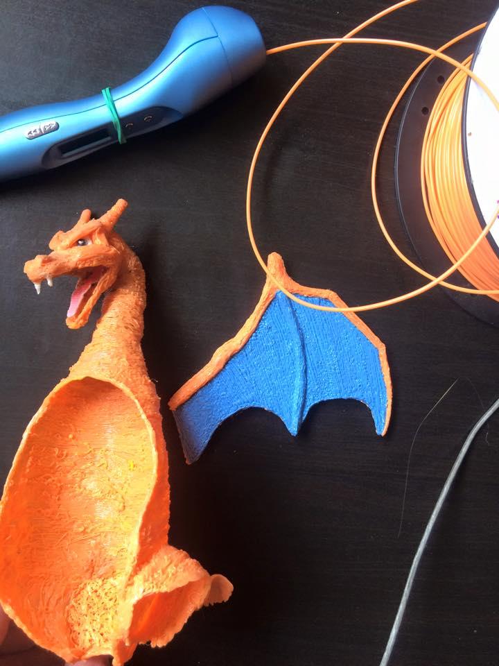 Tạo mẫu khủng long với bút vẽ 3D