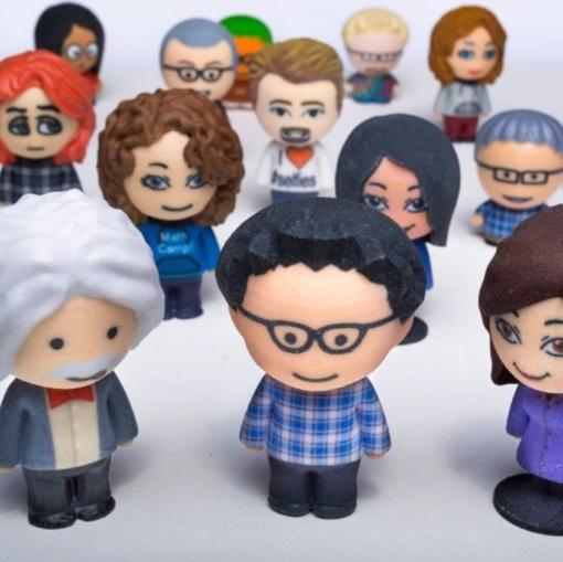 Ứng dụng công nghệ in bột để tạo nên chibi 3D ( tượng mini người thật)