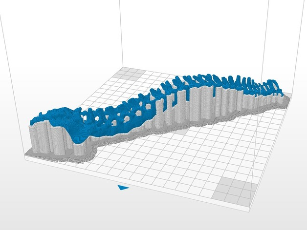 in-3d-nhua-pla tạo mẫu xương sống giả