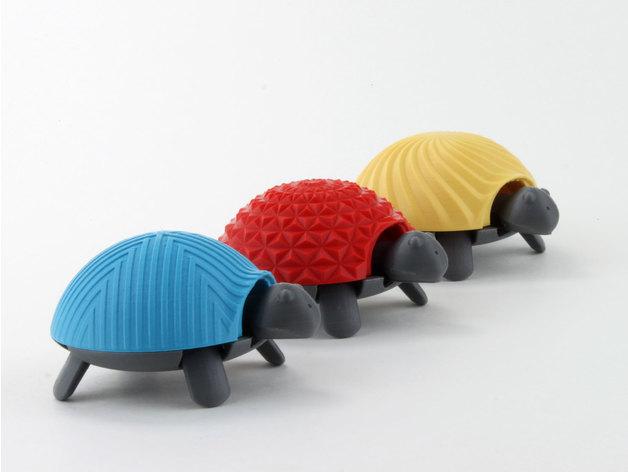 Thiết kế và in 3D mẫu rùa siêu dễ thương. vẽ mẫu rùa. in 3d con rùa mini, turtle 3d