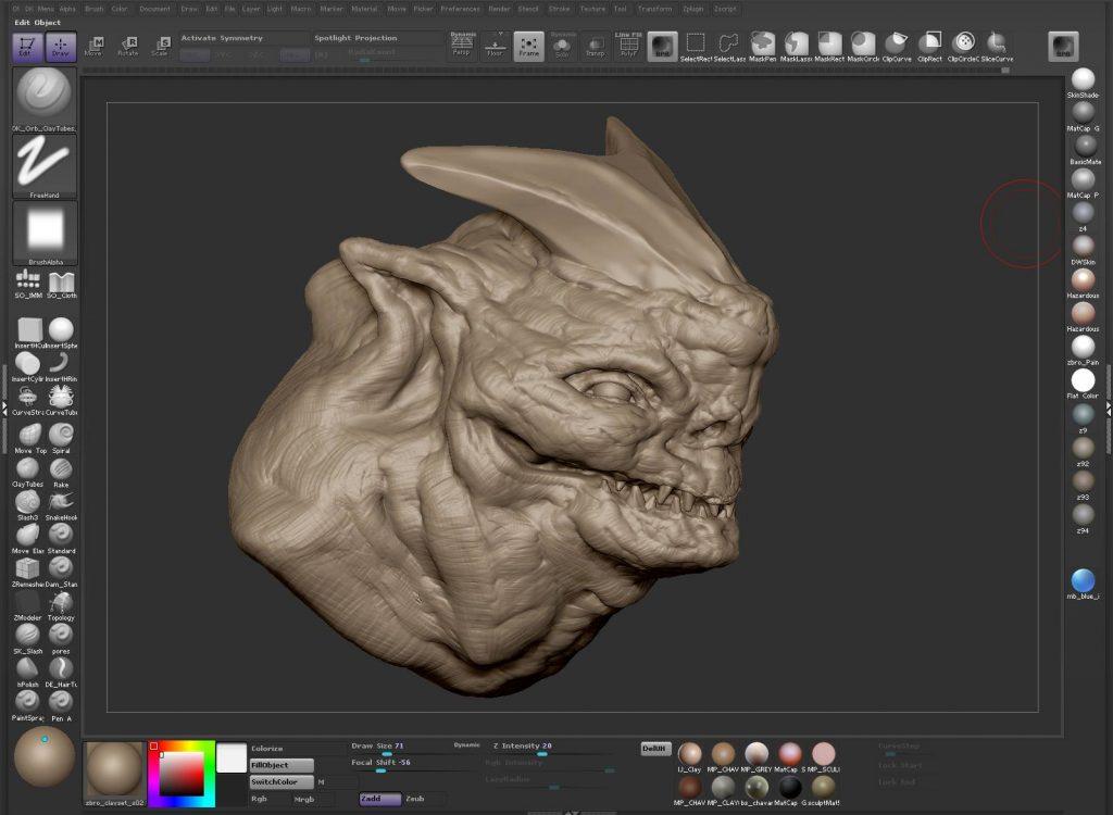 in mô hình quái vật từ Zbrush với máy DLP resin