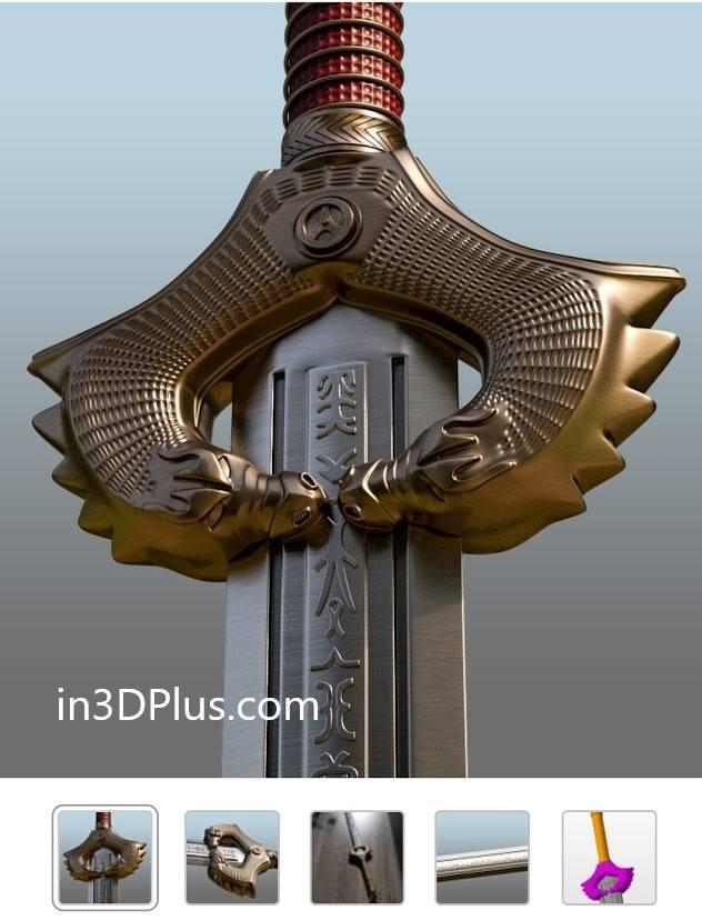 Đây là mẫu thiết kế 3D y chang Thanh kiếm của em Chiến Thần trong phim Wonder Woman
