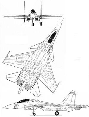 Máy bay Su-30 mô hình , Blueprint SU30MKI