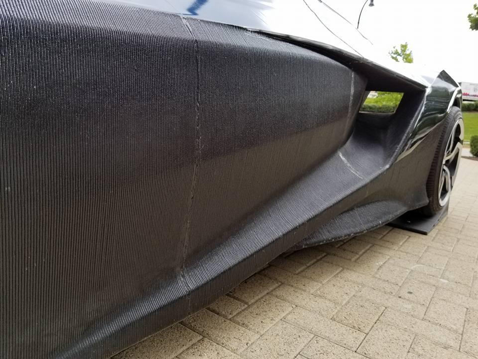 Mẫu siêu xe được in 3D bằng nhựa PLA